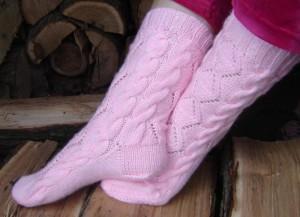 ruzove ponozky